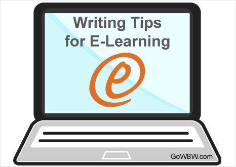 Writing Tips for E-Learning